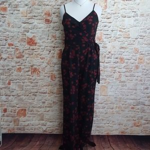 New Michael Kors Eden Rose Sash Tie Jumpsuit